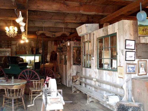 Village of Clinton Barn Stable -pioneer family exhibits and artifacts