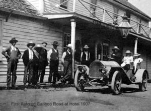 First Auto on Cariboo Rd at Hotel 1907 D-09306.jpg