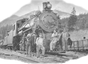 1921 Work Train The Pacific Great Eastern Railway, Clinton